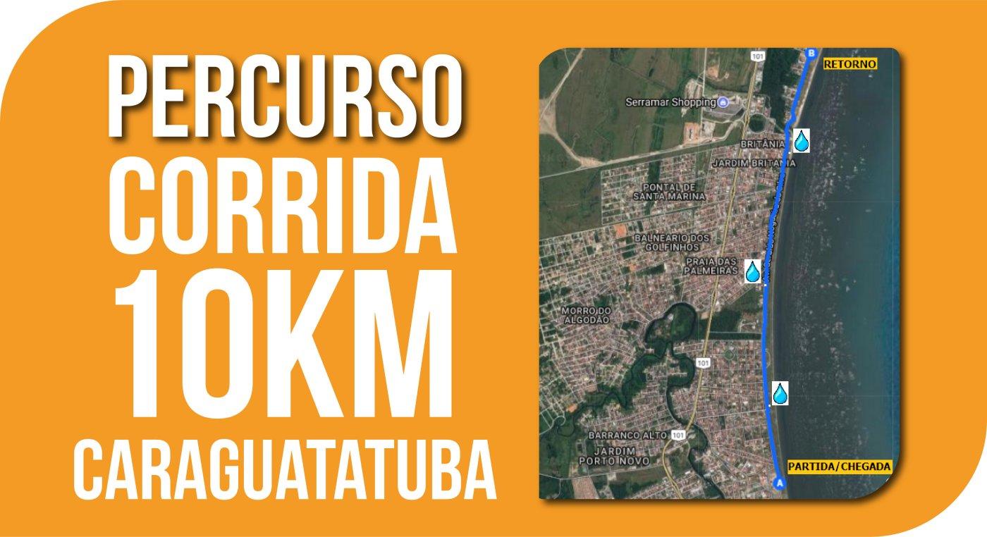 Mapa Caraguatuba 10km